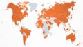 Carte des pays visités par Angela Merkel de 2005 à 2021.png