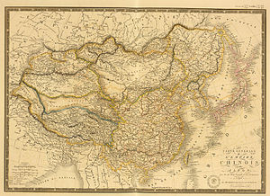 Chao Lake - Image: Carte generale de l'Empire Chinois et du Japon (1836)