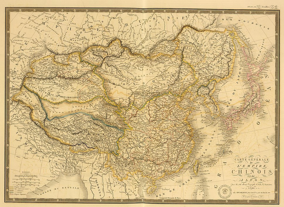Carte generale de l'Empire Chinois et du Japon (1836)