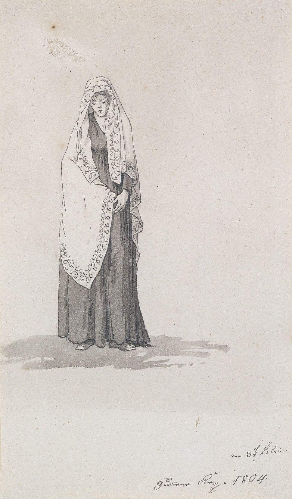 Caspar David Friedrich - Frau mit Umschlagtuch (1804)