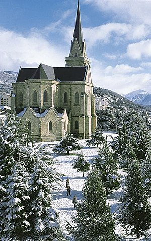 Bariloche - The Neo-Gothic Cathedral of San Carlos de Bariloche had its structure completed in 1947