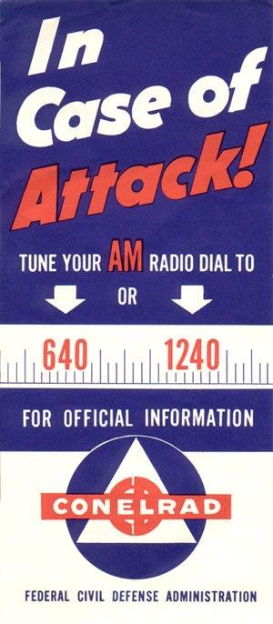 CONELRAD - Cold War-era poster.