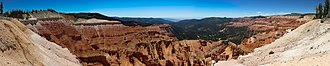 Cedar Breaks National Monument - Image: Cedar Breaks, panoramic view from the canyon rim