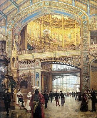 Victor Contamin - Image: Central Dome of the Gallery des Machines Exposition Universelle de Paris 1889 by Louis Beroud 1852 1930
