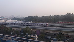 Central park metro Station Train trail (Kolkata Metro Line 2) 03.jpg
