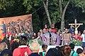 Ceremonia conmemorativa 30 años de los Sismos de 1985 Reloj de Sol, Tlatelolco. 01.JPG