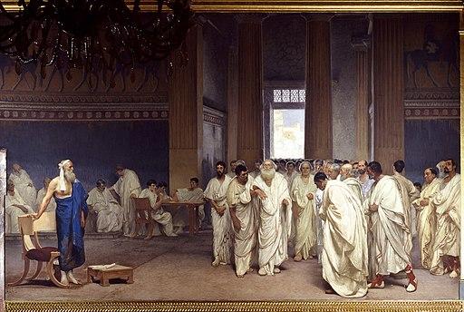Cesare Maccari. Appius Claudius Caecus in senate