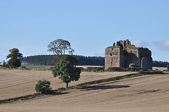 Clan Kerr - The ruins of Cessford Castle, former seat of the Kerr of Cessford branch of the clan, who were once rivals to the chiefly Kerrs of Ferniehurst.