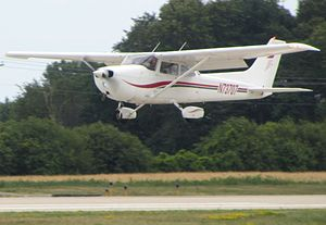 Light aircraft - The Cessna 172 light aircraft is the most produced aircraft of any kind