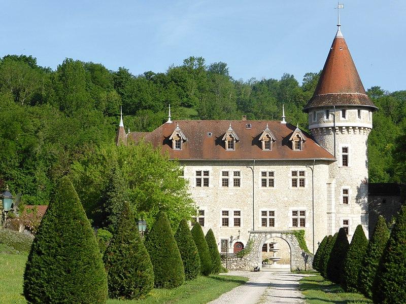 Castle of la Dragonnière in Yenne, Savoie, Rhône-Alpes, France.