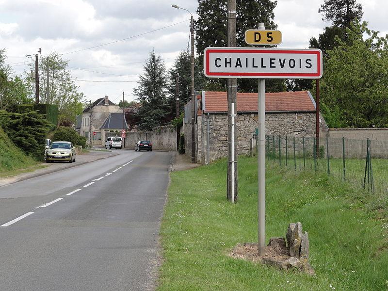 Chaillevois (Aisne) city limit sign