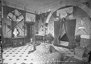 Florence Court - The Hall at Florence Court, c. 1890s