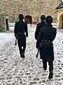 Changing of the guard (HMKG, Royal Guards) at Akershus fortress, Oslo, Norway. Winter uniforms. 2017-11-30 b.jpg