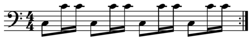 Disco bass pattern. Play (help*info) Characteristic disco bass rhythm.PNG