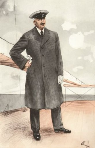 """Charles Allom - ''""""Istria""""'', drawing of Allom from Vanity Fair   6 August 1913, by OWL"""