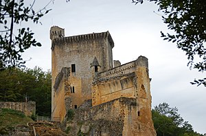 The filming took place in the Chateau de Commarque castle in the Dordogne region of France
