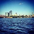 Chicago skyline from Kayak Chicago slip (7412291832).jpg