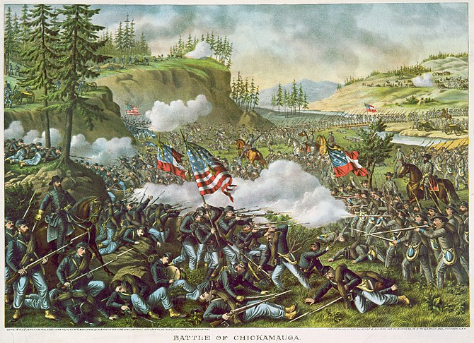 English: Battle of Chickamauga Deutsch: Die Sc...