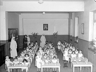 Franciscan Missionaries of Mary - Franciscan Missionaries of Mary Kindergarten School in Montreal in 1943