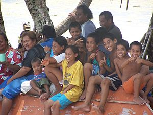 Tuvalu -  Children on Niutao