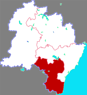Lanshan District, Rizhao District in Shandong, Peoples Republic of China