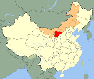 An SVG map of China with Inner Mongolia highli...