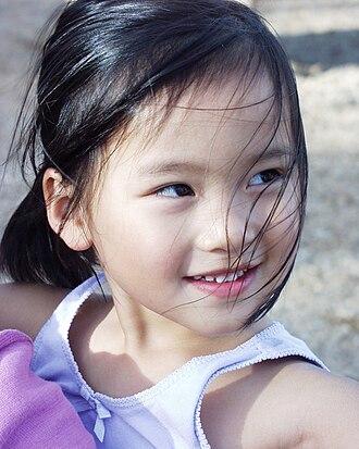 Black hair - Image: Chinese American girl