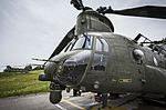 Chinook Heavy Lift Helicopter of 18 Squadron Royal Air Force Odiham awaiting tasking. MOD 45160140.jpg