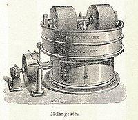 Machine de conchage (gravure de 1904 )