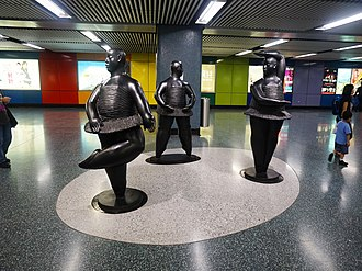 Choi Hung station - The Grace of Ballerinas on Choi Hung Station concourse.
