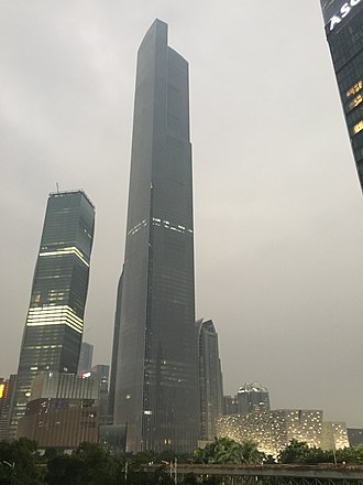 Guangzhou CTF Finance Centre - The skyscraper in December 2015