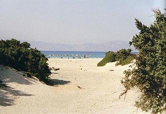 Chrysi (island) - Chrysi beach.