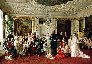 King Christian IX of Denmark with family