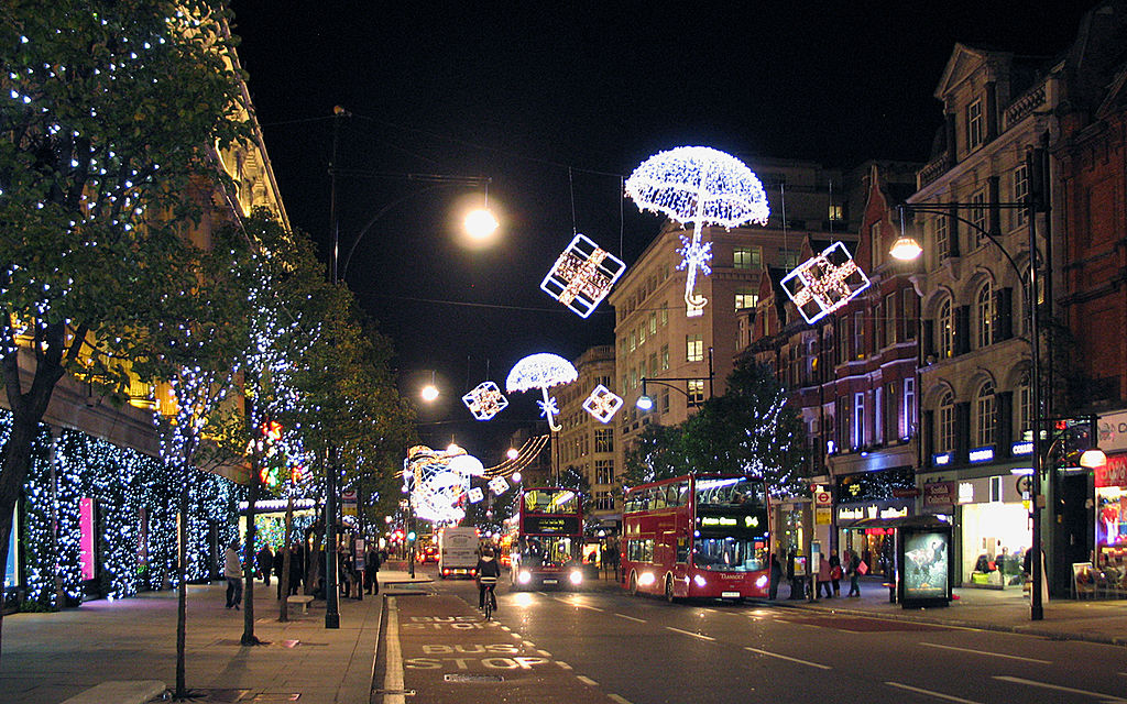 File Christmas Decorations On Oxford Street London Jpg