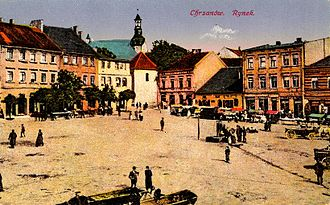 Chrzanów - Chrzanów's Market Square, c. 1910.