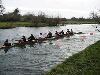 Churchill College Boat Club - Image: Churchill College Boat Club Lent Bumps 2008 M4