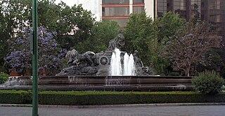 Public fountain in Mexico City