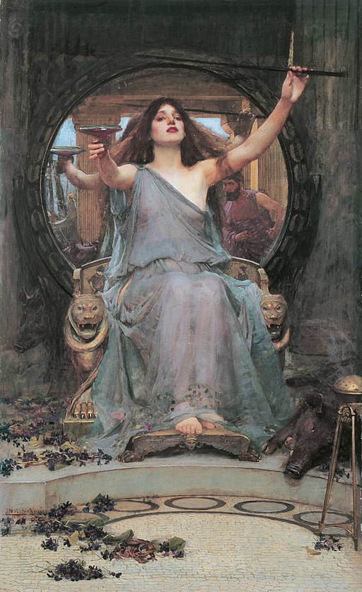 """Circe Offering the Cup to Ulysses"" by John William Waterhouse"