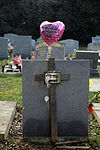 City of London Cemetery and Crematorium - wood cross and balloon.jpg