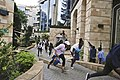 Civilians Scamper to safety as plain clothe police provide cover at dusit d2 nairobi.jpg