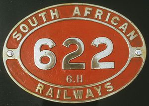 South African Class 6H 4-6-0 - Image: Class 6H no. 622 ID
