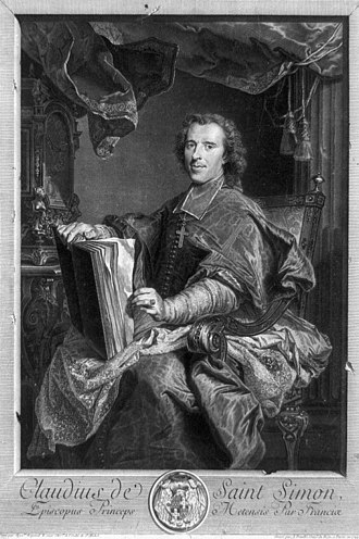 Jean Daullé - Claude Charles de Rouvroy de Saint-Simon, French bishop, after Hyacinthe Rigaud