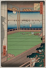 The Moon-Viewing Promontory, from the series One Hundred Views of Famous Places in Edo
