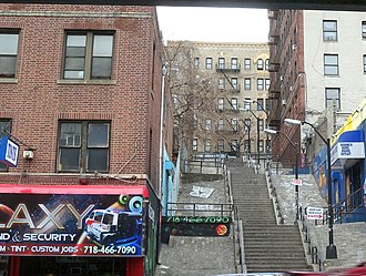 Morris Heights, Bronx - Clifford Place, a step street