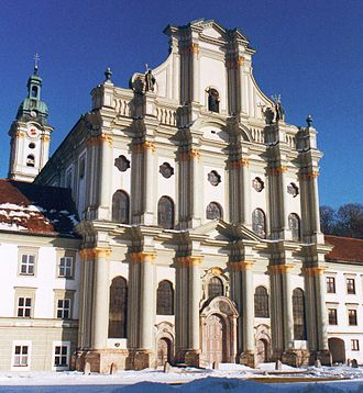 Fürstenfeld Abbey - West front of the abbey church of the Assumption