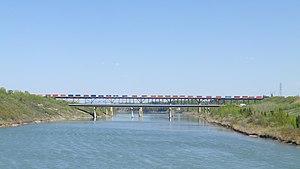 Clover Bar Bridge - The Clover Bar highway and railway bridges.