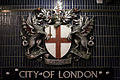 Coat of arms of city of London - Blackfriars station.jpg