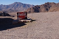 "Sign "" Coca-Cola "" in the mountains of the Hig..."