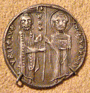 Dinar - Silver dinar from the reign of Serbian king Stefan Uroš I (1243–1276).