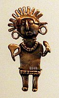 Colombia, quimbaya, figurina maschile, 300-1500 dc ca.jpg